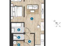 MonteLaa MySky Wien Wohnung 1 Zimmer Plan