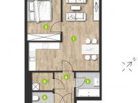 MonteLaa MySky Wien Wohnung 2 Zimmer Plan