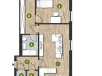 MonteLaa MySky Wien Wohnung 3 Zimmer Plan