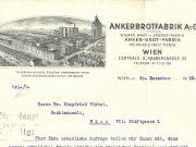 Briefkopf Ankerbrotfabrik 1932